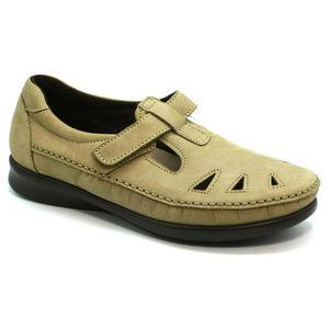 SAS Womens Roamer Tan Leather Shoes Size 9.5